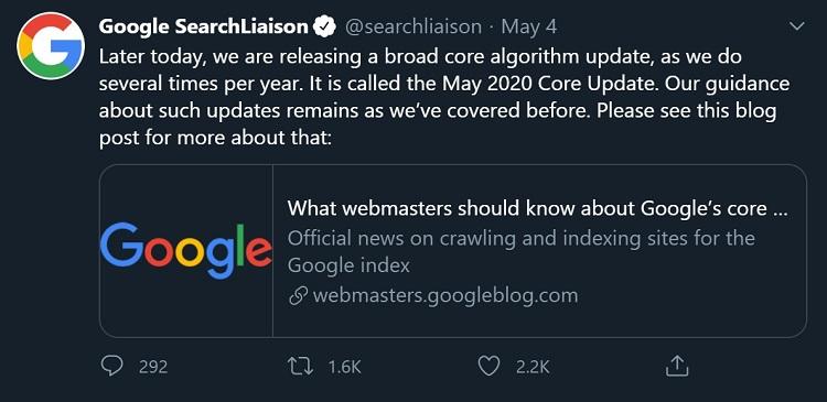 Google Basic Updates Tweet
